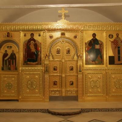 иконостас тябловый, резной, позолота - нижний храм