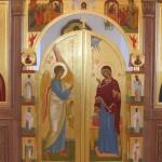 Царские врата иконостаса письмо кистью, золочение